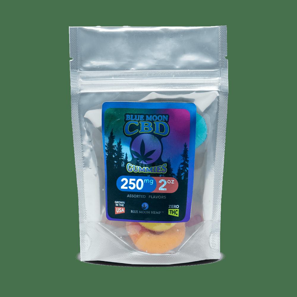 CBD Желейки Gummies 12шт., 20мг. CBD в 1шт., Мишки с КБД, Желе Конфеты для Отдыха, Gummies – 2oz 250mg Blue Moon Hemp, США