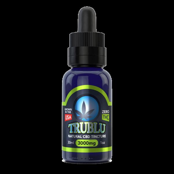 CBD Масло 30мл. 3000 мг, КБД Масло от Стресса и для Иммунитета, TruBlu Natural – CBD Oil 3000mg Blue Moon Hemp, США