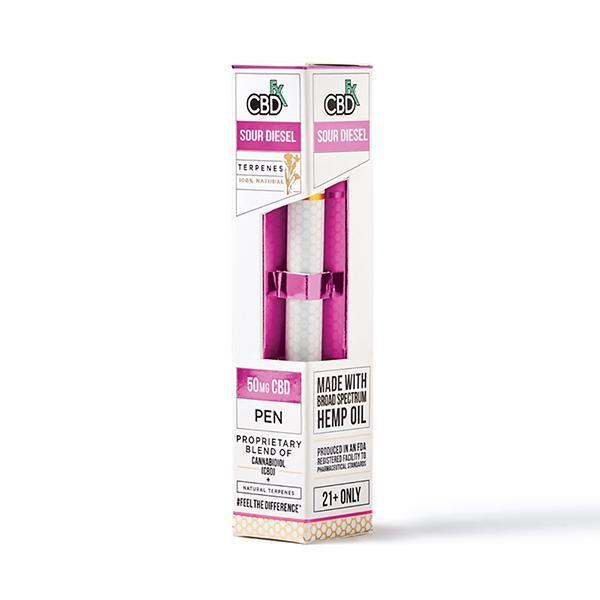 Одноразовая вейп-ручка CBD Terpens Disposable Pen Sour Diesel 50mg CBD +FX