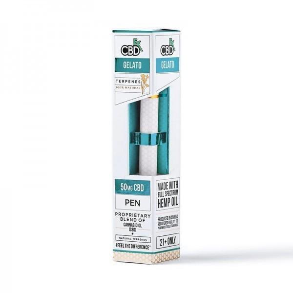 Вейп-ручка Gelato CBD Terpenes Vape Pen 50mg CBD FX