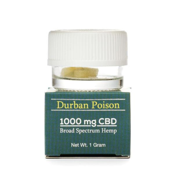 КБД (CBD) Воск 1г., КБД Кристаллы CBD Dabz Shatter Durban Poison 1000 mg CBD Living, США