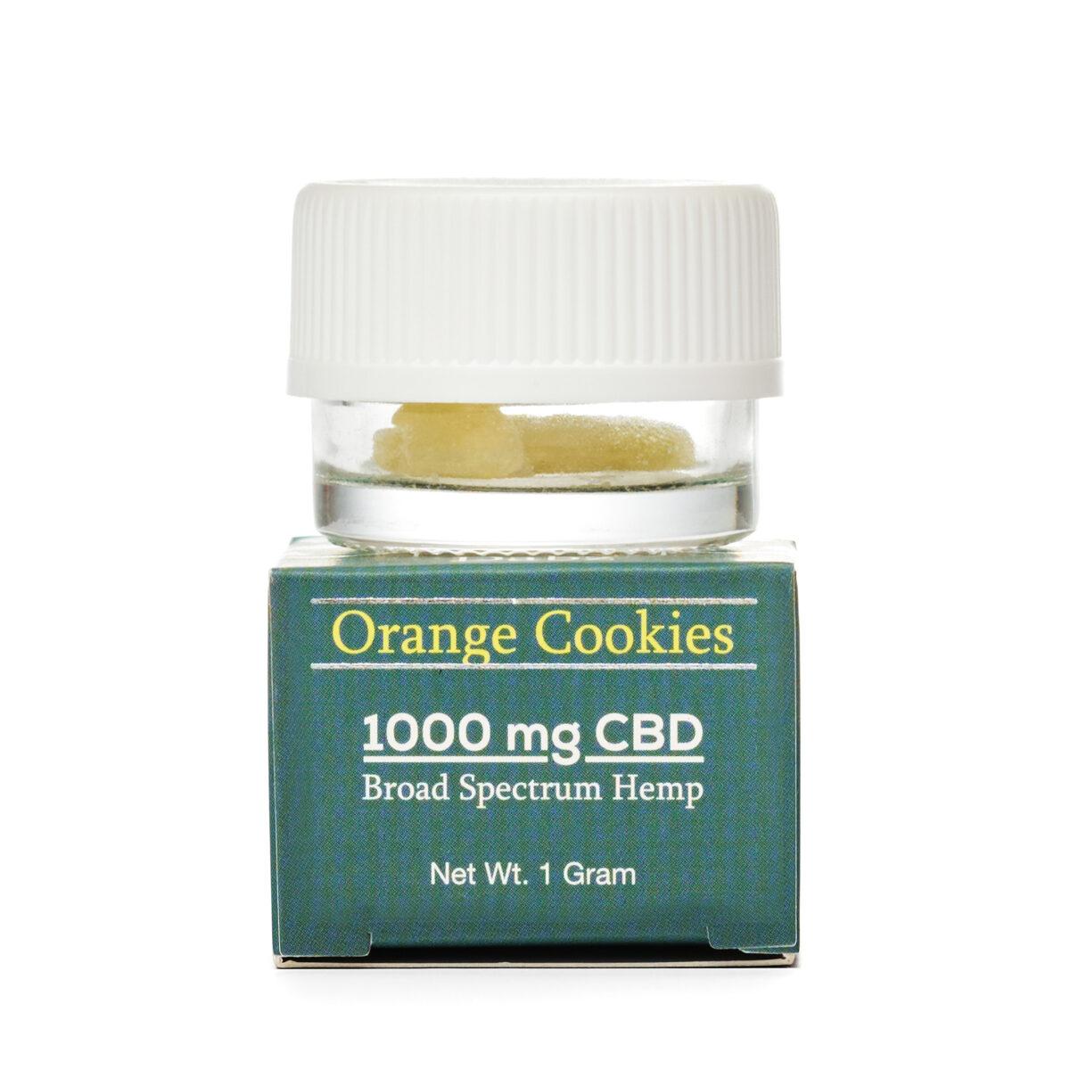CBD (КБД) Воск 1г., CBD Кристаллы CBD Dabz Shatter Orange Cookies 1000 mg CBD Living, США