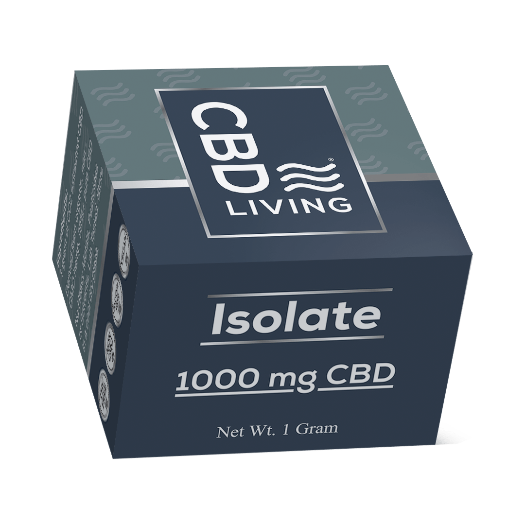 Концентрат CBD (КБД), 1г. СBD Изолят от Стресса, Isolate 1000 mg CBD Living, США