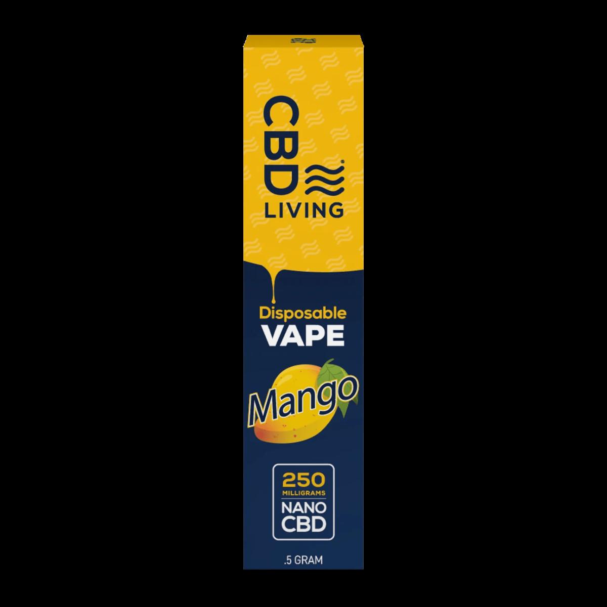 Вейп-ручка CBD Disposable Vape Mango 250 mg CBDLiving