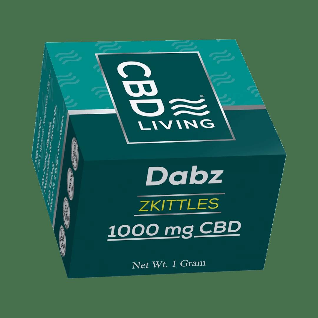 CBD (КБД) Воск 1г., КБД Кристаллы Dabz Shatter Zkittlez 1000 mg CBD Living, США