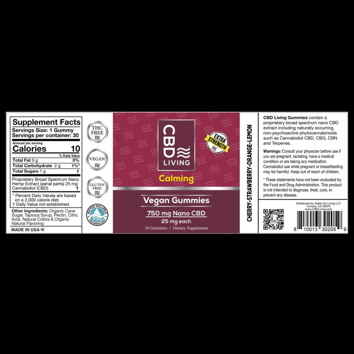 Желейки CBD Gummies – Vegan 750 mg CBD Living