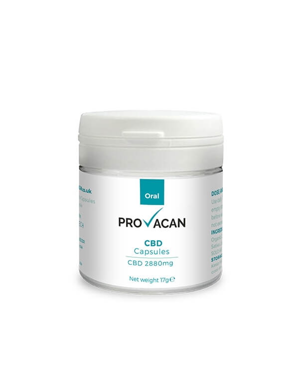 Капсулы 2880 mg CBD Capsules Provacan
