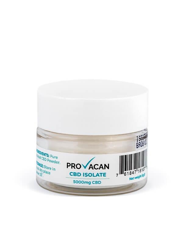 5000 мг. Изолят CBD, КБД Экстракт от Стресса и Тревоги, 5000 mg CBD Isolate Provacan, Англия