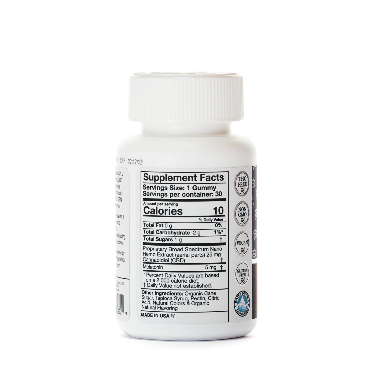Конфеты CBD, Желейки с КБД для Сна 30 шт., 25мг. CBD и 5мг. Мелатонина в 1 Желе, Gummies – Sleep 750 mg CBD Living, США