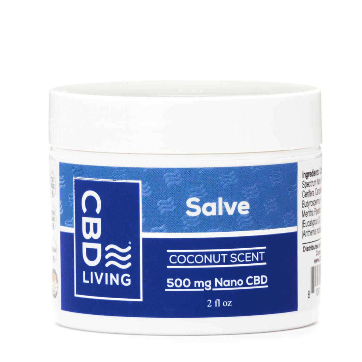 Мазь CBD (КБД) для Сухой Кожи с Ароматом Кокоса, Salve 500 mg CBD Living, США