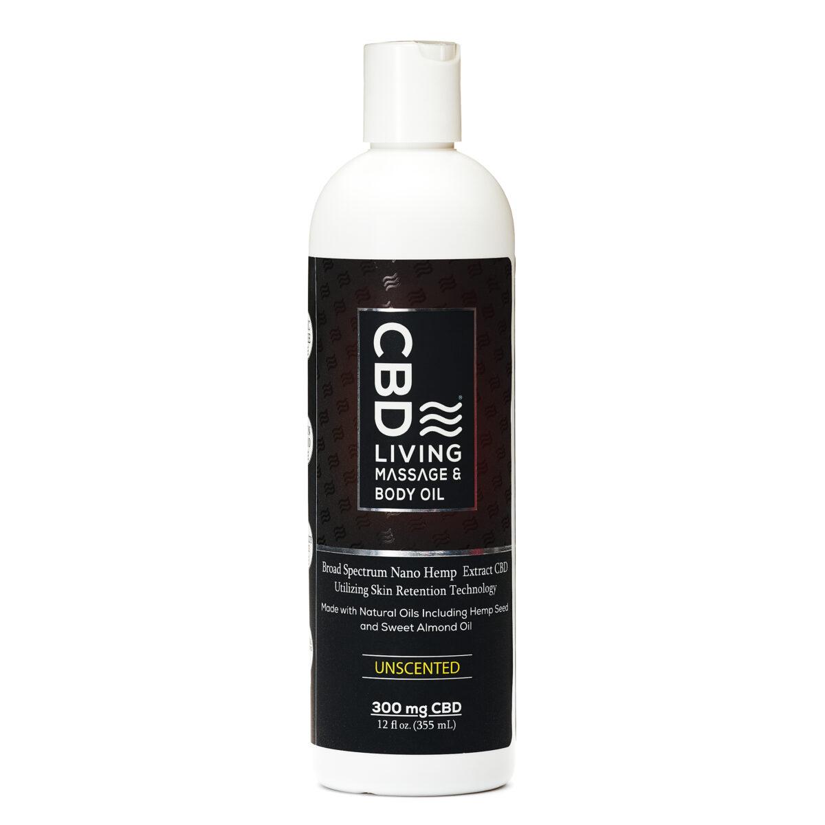 Масло для массажа CBD Massage Oil 300 mg CBD Living