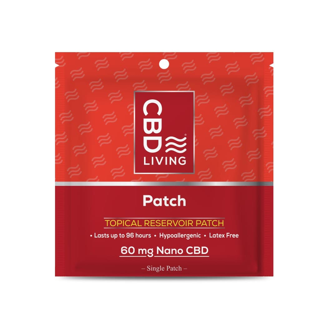 Пластырь CBD (КБД) 60мг для Облегчения Мышечной Боли, Patch 60 mg CBD Living, США