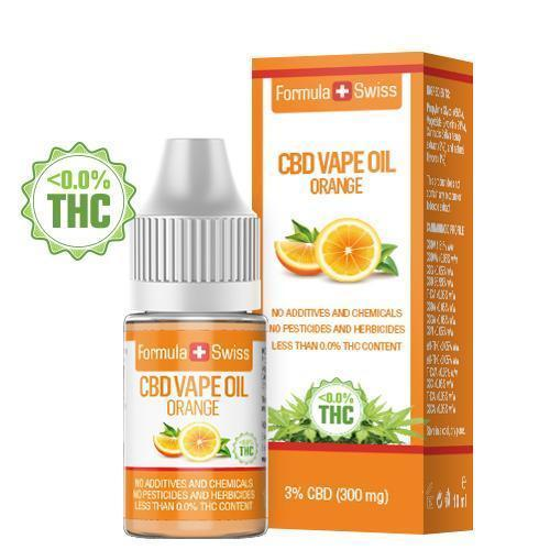 Масло для вейпа КБД, CBD Vape Oil Orange 3% 300 мг., 10 мл, 0% ТГК