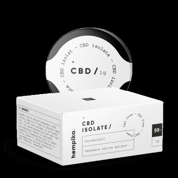 1г. CBD Изолят/Кристаллы, КБД 1000 мг. 99% CBD Без ТГК, CBD ISOLATE 1000 mg, Hempika, Словения